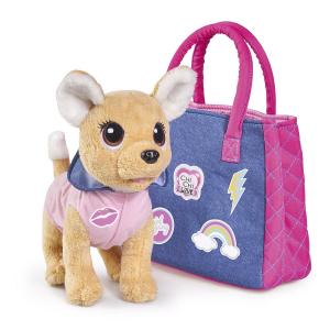 Игрушка мягкая Chi Chi Love Городская мода Собачка с сумочкой 5893244