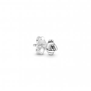 Bee sterling silver stud earring