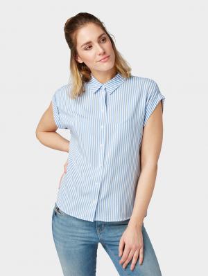 short sleeve b, stripe vertical blue, 36