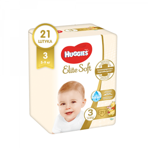 Подгузники Huggies Elite Soft 3 5-9 кг 21 шт