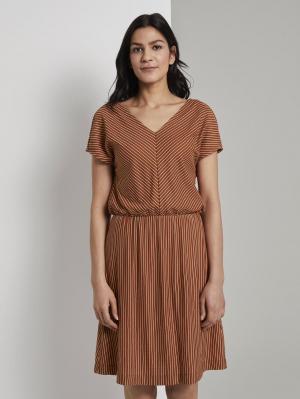 dress jersey str, brown white stripe, 42
