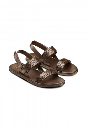 BATA - MEN SANDAL -BROWN LEATHER UPPER