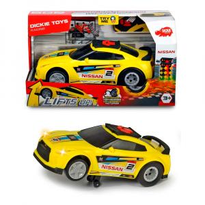 Машинка Dickie Toys Nissan GTR Рейсинговый автомобиль жёлтая