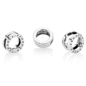 PANDORA Reflexions logo silver clip charm