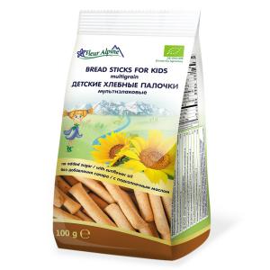 «Fleur Alpine» палочки детские Органик мультизлаковые хлебные, с 3-х лет, 100 гр.