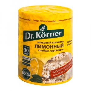 Хлебцы сладкие Korner Лимонный злаковый коктейль 100гр