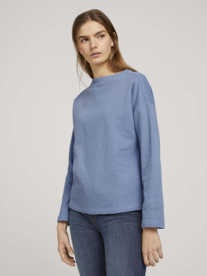 bonded cosy sweater, soft mid blue, M