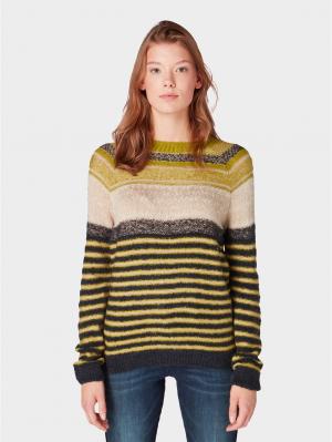 Sweater fair isle, wood green, XL
