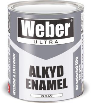 Эмаль серый 2.7 кг WEBER