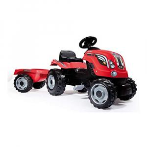 Трактор педальный Smoby Farmer XL с прицепом (красный)