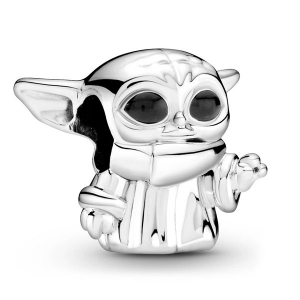 Star Wars The Child sterling silver charm with black enamel