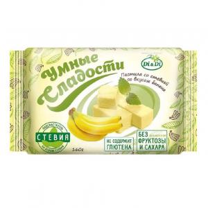 Пастила «Умные сладости» со стевией «Банан» 160г