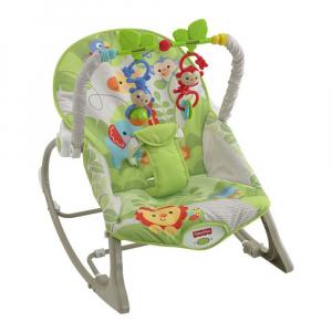 Кресло-качалка Fisher-Price Веселые обезьянки из тропического леса