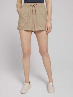 Relaxed Linen Shorts, dune beige, M