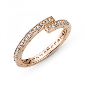 Pandora logo Pandora Rose ring with clear cubic zirconia