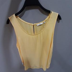 printed sleeveless b, daylily yellow, 36
