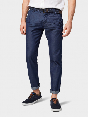 chambray pants, Rinsed Blue Denim, 36/34