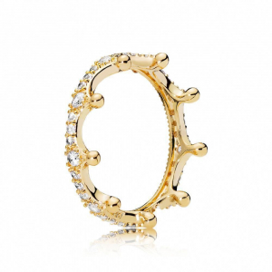 Crown PANDORA Shine ring with clear cubic zirconia
