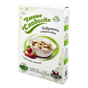 Подушечки «Умные сладости» с клубничной  начинкой со стевией 220г